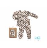 Feetje Pyjama leopard lux baby peach oranje