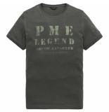 PME Legend Short sleeve r-neck jersey black onyx grijs