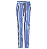 Supertrash Broek patrick deep navy stripe zwart