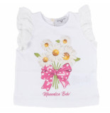 Monnalisa T-shirt rouches st.marghe wit