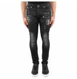 Richesse Ves jeans zwart