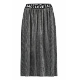 Penn & Ink W19t308ltd 83 n.y. skirt plisse grey silver