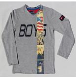 Boys in Control 302a grijs melange shirt