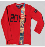 Boys in Control 302a rood shirt