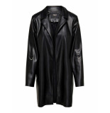 Only Sophia faux leather blazer coat zwart