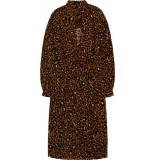 10 Feet Animal printed fitted waist dress amber bruin