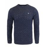 Gabbiano Knit pull dark blue melange blauw
