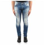 Richesse Vichy jeans blauw