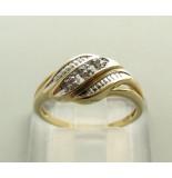 Christian Gouden vlecht ring met diamant geel goud