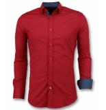 Gentile Bellini Heren overhemden italiaans rood