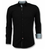 Gentile Bellini Italiaanse blouse mannen zwart