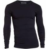 Garage Bodyfit t-shirt v-neck l/s black zwart