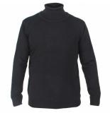 Enrico Polo Heren pullover met colkraag zwart