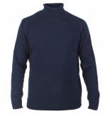 Enrico Polo Heren pullover met colkraag blauw
