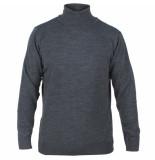 Enrico Polo Heren pullover met colkraag donker grijs