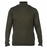 Enrico Polo Heren pullover met colkraag army