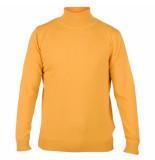 Enrico Polo Heren pullover met colkraag oker geel