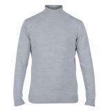 Enrico Polo Heren pullover met colkraag grijs