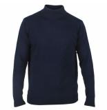 Enrico Polo Heren pullover met ronde hals blauw