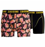 Zaccini 2pack boxershorts popcorn zwart