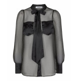 Co'Couture Blouse 95215 presley bow shirt 96 zwart