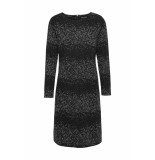 DIDI Basic jurk met all over print zwart