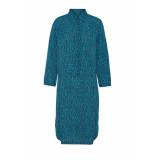 DIDI Midi jurk met all over print blauw