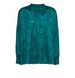 DIDI Oversized blouse met bloemenprint blauw