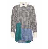 DIDI Lange blouse met all-over stippenprint zwart