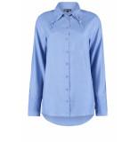 DIDI Basic blouse met knoopsluiting blauw