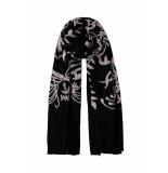 DIDI Rechthoekige sjaal met borduursels zwart