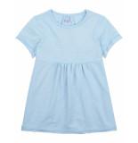 Oilily Timsy blauw garment dye shirtje met fijn reliëf-