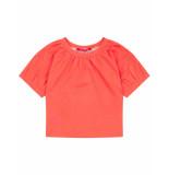 Oilily Tjabbie oversized rood shirtje van biologisch katoen- oranje