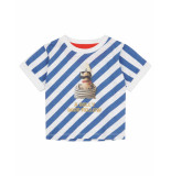 Oilily Tuk gestreept shirt met urker vissers print- blauw