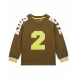 Oilily Hakkel biokatoen sweater met print van rubber- groen