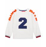 Oilily Hakkel biokatoen sweater met rubber print- wit