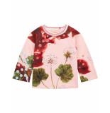 Oilily Hanne sweater van scuba stof met kleurrijke print- roze