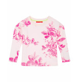 Oilily Hobert crèmekleurige sweater met roze gebloemd motief- wit