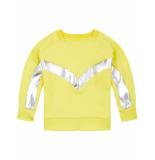 Oilily Hoores gele sweater van scuba stof met coole kitesurf details- beige