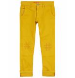 Oilily Piek gele 5 pocket broek met #hashtag knieën-