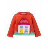 Oilily Sweater met huisje- rood