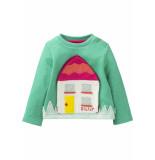 Oilily Sweater met huisje- licht blauw