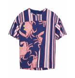 Oilily Tjebbe jersey jurkje met krab print en oud-hollands streepje-