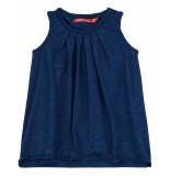 Oilily Tjiftjaf indigo slub jersey jurkje van biologisch katoen- blauw