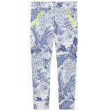 Oilily Trapper legging met delfts blauwe print-