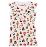 Oilily Tree jersey jurkje met urker dolls print-