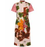 Oilily Dab jurk botanical flower stripe- roze