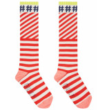 Oilily Mop kniesokken rood met witte streep en #hashtags-