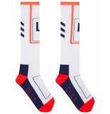 Oilily Muiden kniesokken met sportieve streep- wit