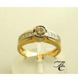 Atelier Christian Ring met diamanten 0.91 ct. geel goud